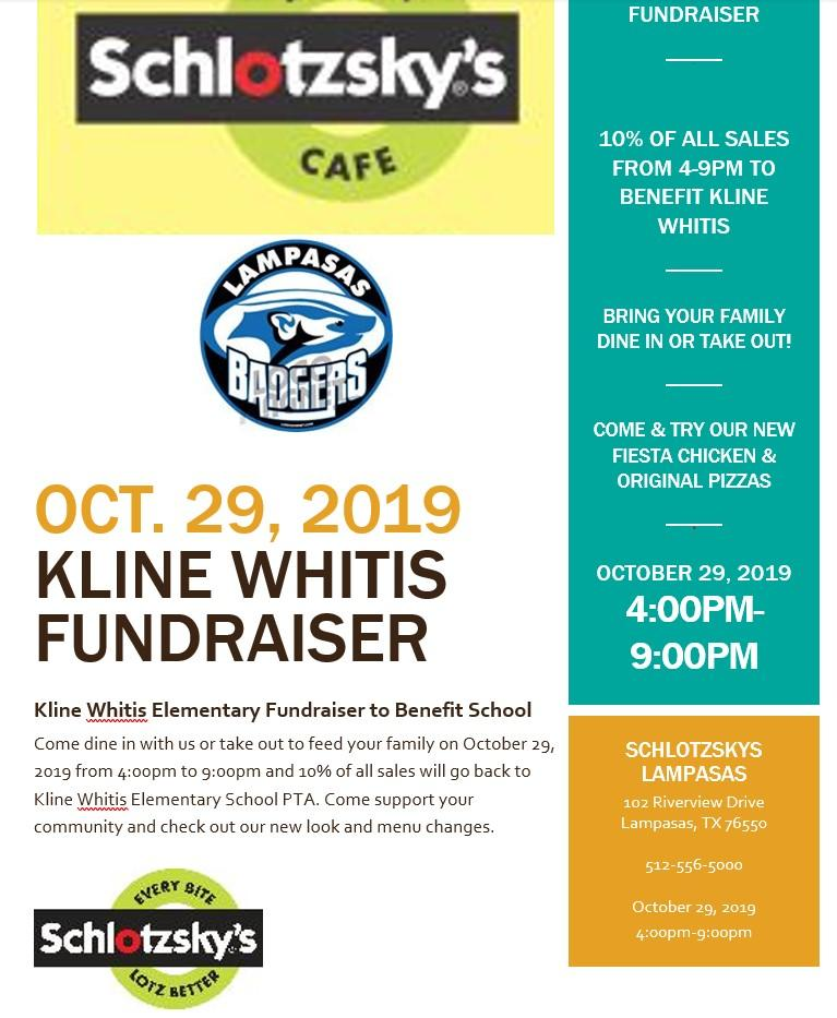 Eat at Schlotzsky's Tonight & Support KWE