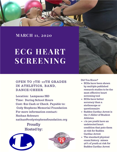 2020 Lampasas Heart Screening