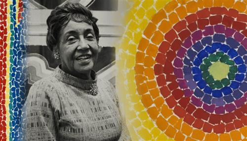 Alma Thomas with circles