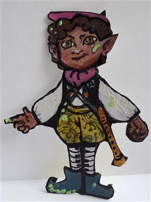 Artie paper doll on white background